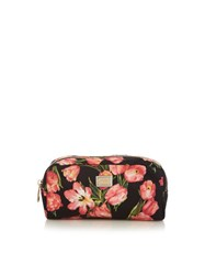 Dolce And Gabbana Tulip Print Cosmetics Case Black Pink