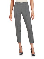 Vince Pintucked Stretch Wool Pants Grey