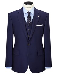 Chester Barrie By Hopsack Wool Tailored Suit Jacket Navy