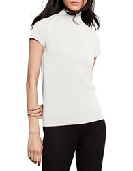 Lauren Ralph Lauren Jersey Short Sleeve Turtleneck Cream