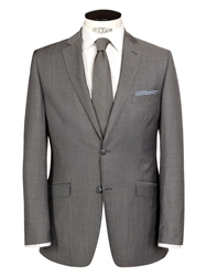 Daniel Hechter Contrast Twill Tailored Suit Jacket Grey