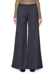 Acne Studios 'Melora' Wide Leg Flare Wool Blend Pants Black