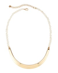 Lydell Nyc Golden Pearly Bar Collar Necklace Women's