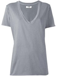 Nsf V Neck T Shirt Grey