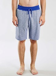 Topman Blue Slub Loungewear Shorts