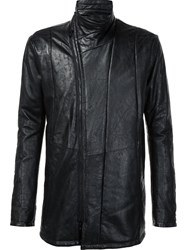 Julius Zip Up Leather Jacket Black