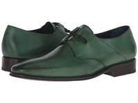 Messico Liceo Burnished Olive Leather Men's Shoes Green