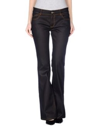 Gold Case Denim Pants Black