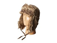 Woolrich Faux Raccoon Fur Trapper Brown Caps