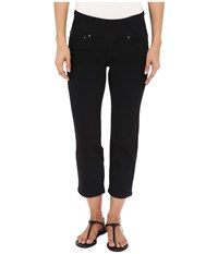 Jag Jeans Echo Pull On Classic Fit Crop In Dolce Twill Black Women's Casual Pants