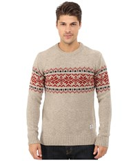 Penfield Hickman Snowflake Crew Oatmeal Men's Sweater Brown