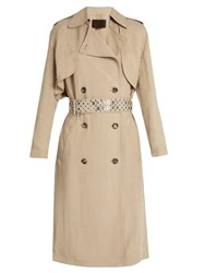 Alexander Wang Long Line Double Breasted Trench Coat Beige