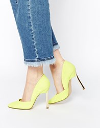 New Look Vic Lime Asymmetric Heeled Court Shoes Limegreen