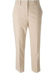 Helmut Lang Cropped Trousers Nude And Neutrals