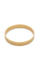 Kate Spade Mom Engraved Bangle Bracelet Gold