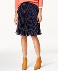 Maison Jules Polka Dot Accordion Skirt Only At Macy's Blue Note Combo