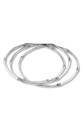 John Hardy 'Bamboo' Slim Bangle Set Of 3 Silver