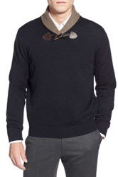 Toscano Shawl Collar Pullover Sweater Purple