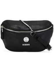 Versus Logo Plaque Bum Bag Black