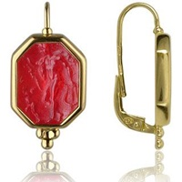 Tagliamonte Classics Collection Red 18K Gold Drop Earrings