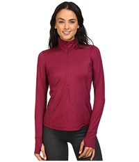 Brooks Dash 1 2 Zip Sangria Women's Long Sleeve Pullover Red
