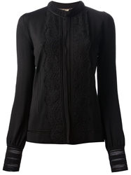 Roberto Cavalli Embroidered Cardigan Black