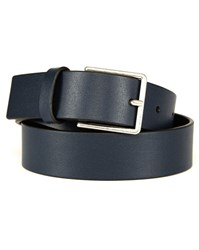 Paul Smith Navy Leather Belt Blue