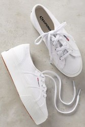 Anthropologie Superga Platform Sneakers White 6.5 Sneakers