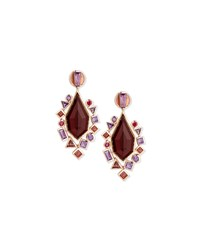 Gold Struck Garnet Ruby And Amethyst Drop Earrings Stephen Webster Red