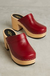 Anthropologie Swedish Hasbeens Louise Clogs Wine