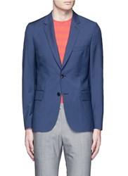 Paul Smith 'Soho' Wool Mohair Hopsack Blazer Blue