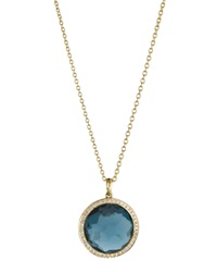 Ippolita London Blue Topaz Lollipop Pendant Necklace Mini London Blue Topaz