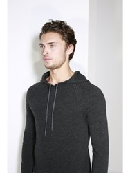 Johnstons Of Elgin Cashmere Hooded Sweater Grey