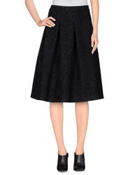 Essentiel Knee Length Skirts Black