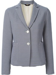 Fay Striped Blazer White