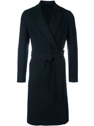 Caruso Belted Coat Blue