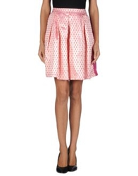 Odi Et Amo Knee Length Skirts Pink