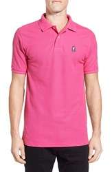 Psycho Bunny Men's Classic Pima Cotton Pique Polo Raspberry