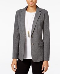 Maison Jules Long Sleeve Blazer Only At Macy's Grey