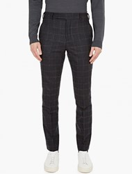 Paul Smith Charcoal Mohair Blend Trousers
