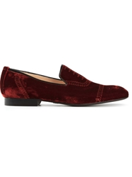 Alberto Moretti Brogue Printed Loafers Red
