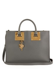 Sophie Hulme Albion East West Leather Tote Grey