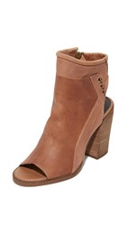 Dolce Vita Niki Open Toe Booties Chestnut