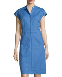 Lafayette 148 New York Isabella Cap Sleeve Sheath Dress Riviera
