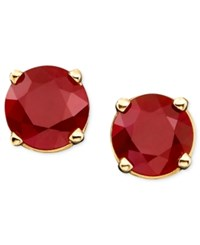 Macy's Ruby Stud Earrings In 14K Gold 1 Ct. T.W.
