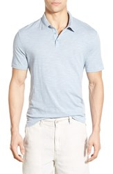 John Varvatos Men's Star Usa Trim Fit Peace Sign Polo Sky