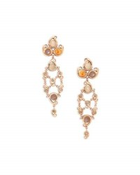 Tamara Comolli Paisley Moonstone And Garnet Chandelier Cabochon Earrings In 18K Rose Gold
