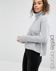 Miss Selfridge Petite Cowl Neck Slouch Jumper Soft Grey