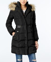 Rachel Roy Faux Fur Trim Puffer Coat Only At Macy's Black