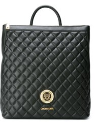 Love Moschino Large Quilted Backpack